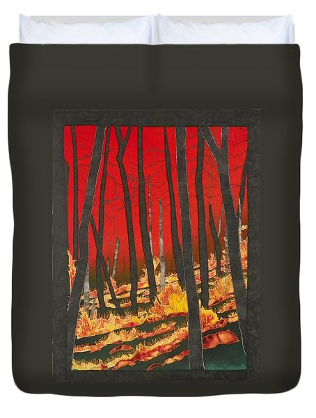 North Carolina Forests Under Fire II Duvet Cover