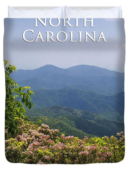 North Carolina Mountains Duvet Cover