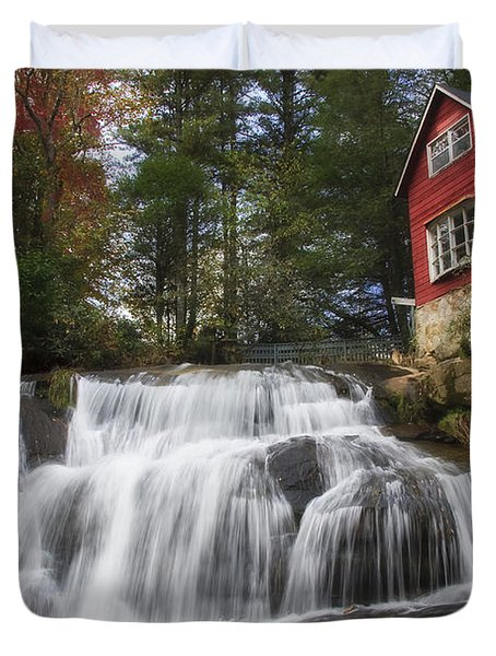 North Carolina Waterfall Duvet Cover