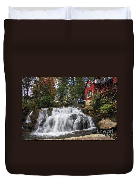 North Carolina Waterfall Duvet Cover