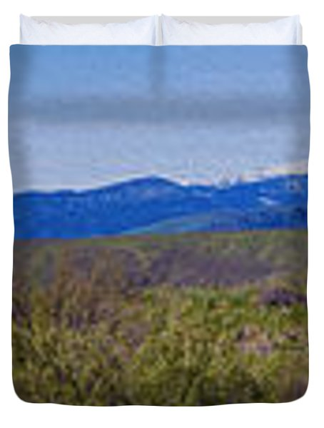 North Cascades Game Range Panorama Duvet Cover by Omaste Witkowski
