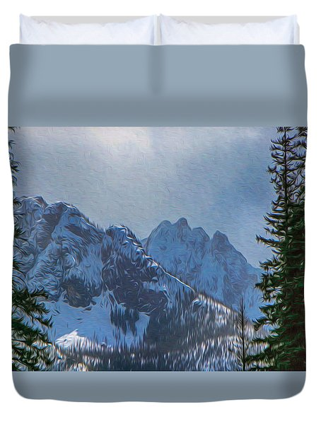 North Cascades Inspiration Duvet Cover by Omaste Witkowski
