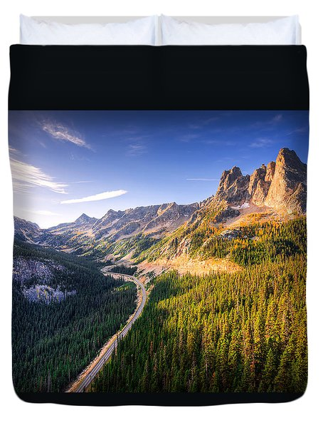Duvet Cover featuring the photograph North Cascades Liberty Bell by Dan Mihai