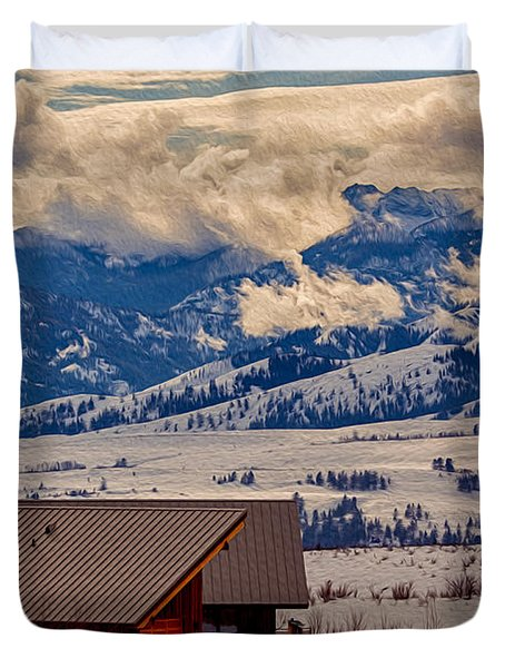 North Cascades Mountain View Duvet Cover