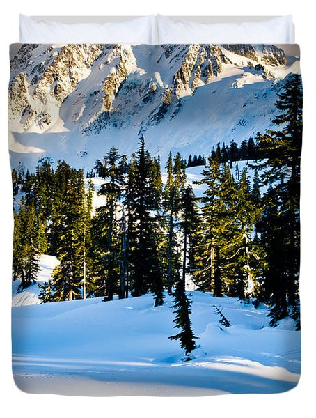 North Cascades Winter Duvet Cover by Inge Johnsson
