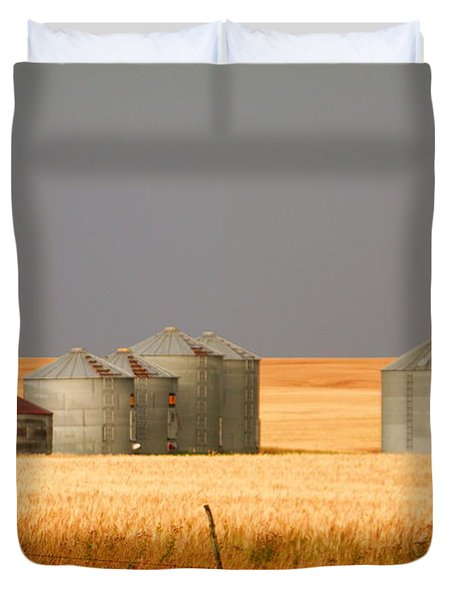 North Dakota Landscape Duvet Cover