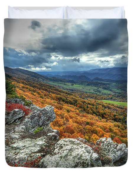North Fork Mountain Overlook Duvet Cover