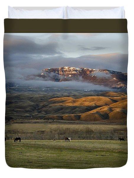 North Fork Pasture-signed Duvet Cover