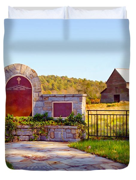 Duvet Cover featuring the photograph Landscape Barn North Georgia by Vizual Studio