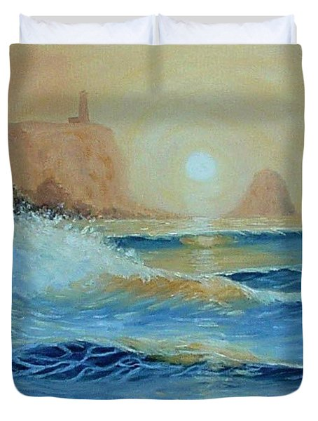 North Head Twilight Mist Duvet Cover