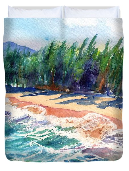 North Shore Beach 2 Duvet Cover by Marionette Taboniar
