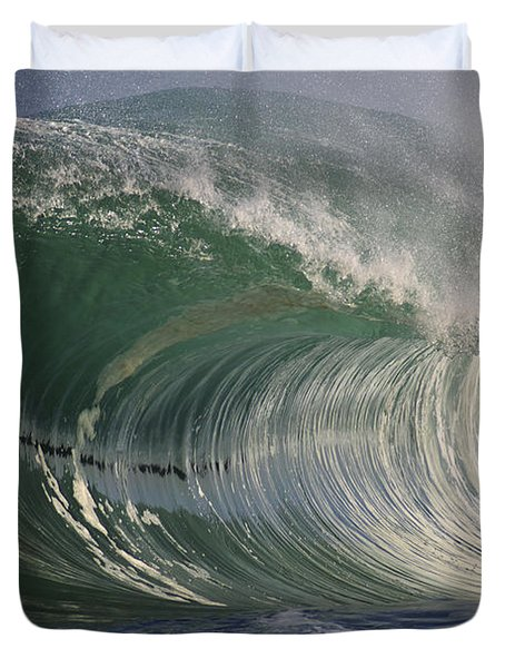North Shore Powerful Wave Duvet Cover by Vince Cavataio