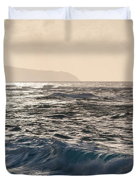 North Shore Waves Duvet Cover