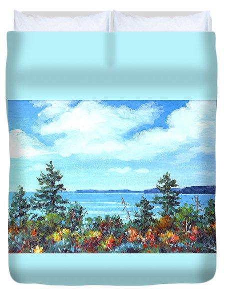 North Sky Sketch Duvet Cover