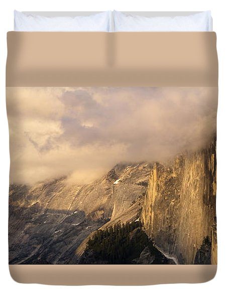North Valley Panoramic Duvet Cover by Bill Gallagher