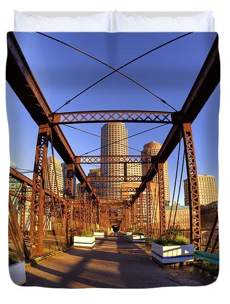 Northern Avenue Bridge Duvet Cover by Joann Vitali