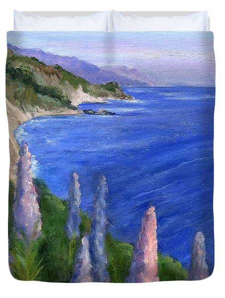 Northern California Cliffs Duvet Cover by Jamie Frier
