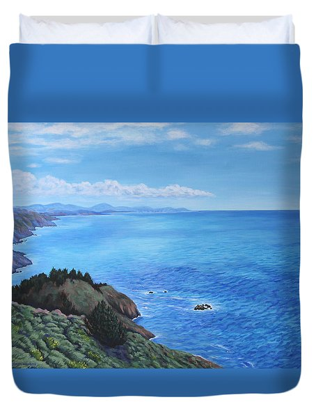 Northern California Coastline Duvet Cover