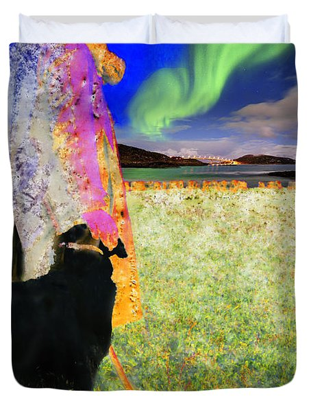 Northern Lights Duvet Cover by Chuck Staley