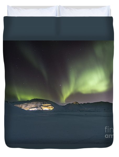 Northern Lights Iceland Duvet Cover
