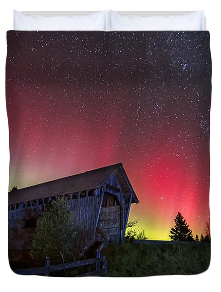 Northern Lights - Painted Sky Duvet Cover by John Vose