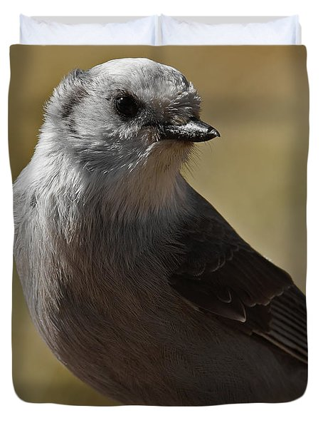 Northern Mockingbird Duvet Cover by Ernie Echols
