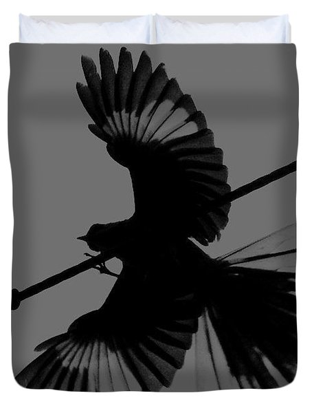 Duvet Cover featuring the photograph Northern Mockingbird by Leticia Latocki
