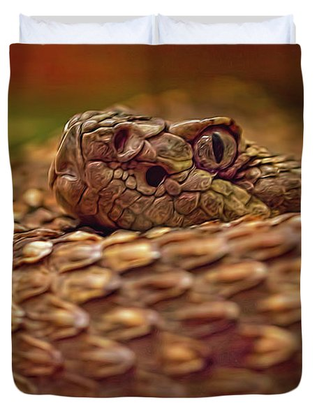 Northern Pacific Rattlesnake  Duvet Cover