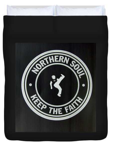 Northern Soul Dancer Inverted Duvet Cover