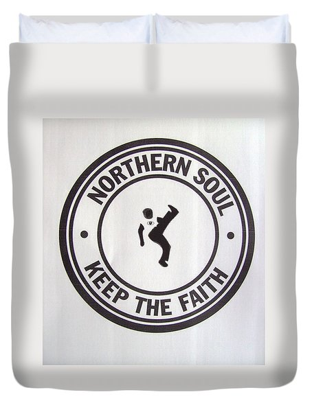 Northern Soul Dancer Duvet Cover