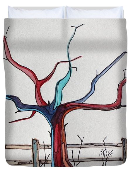 Roots Duvet Cover by Pat Purdy