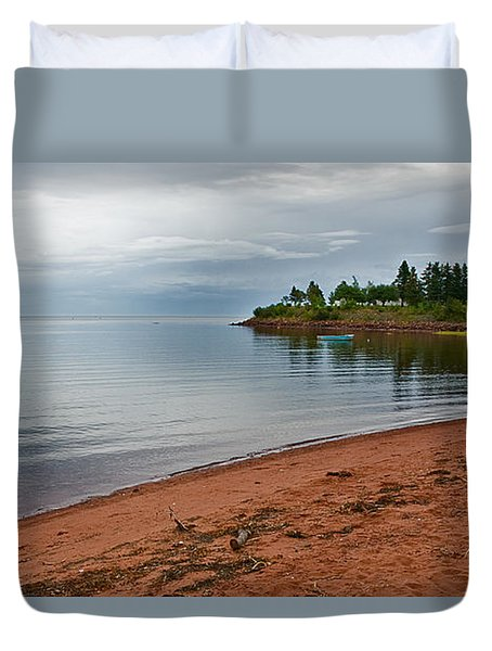 Northumberland Shore Nova Scotia Red Sand Beach Duvet Cover
