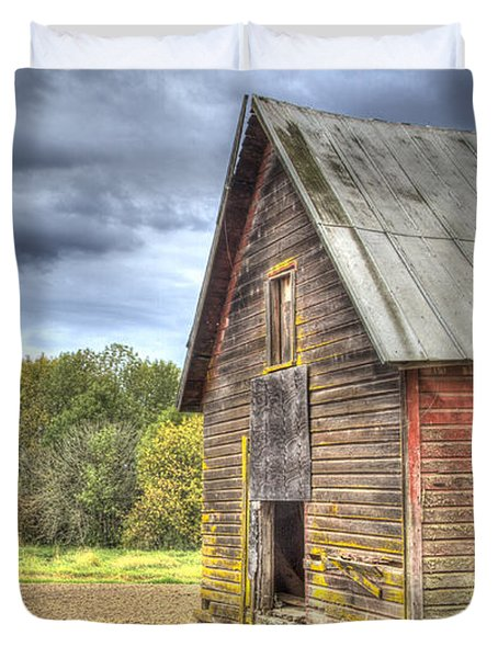 Northwest Barn Duvet Cover by Jean Noren
