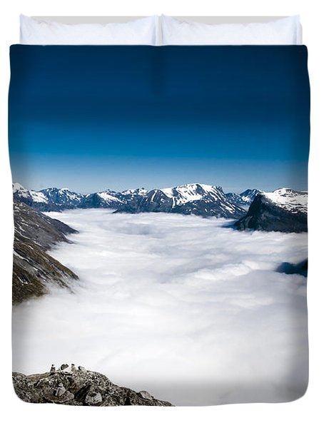 Norway In The Clouds Duvet Cover