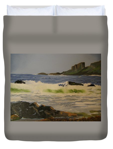 Norwick Beach Shetland Isles Duvet Cover