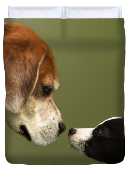 Nose To Nose Dogs 2 Duvet Cover