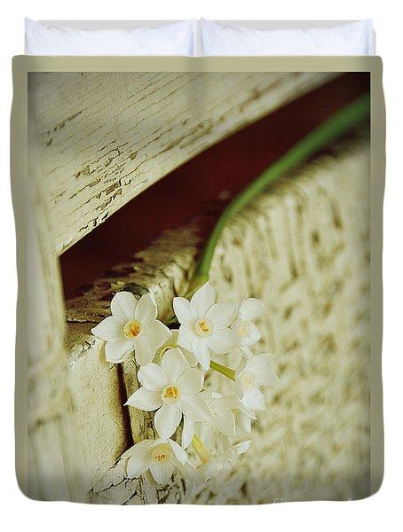 Nostalgic Paper Whites Duvet Cover by Carla Parris