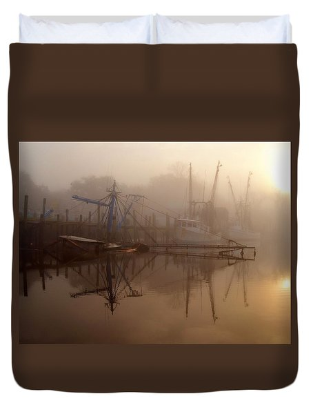 Not A Good Morning Duvet Cover by Laura Ragland