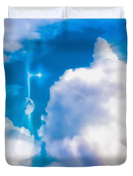 Not Just Another Cloudy Day Duvet Cover