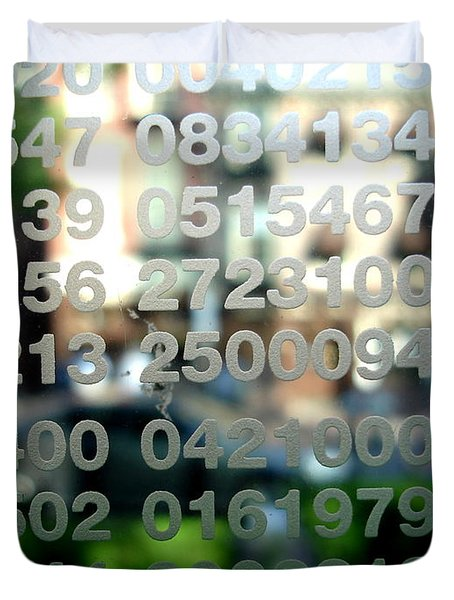 Not Just Numbers Duvet Cover