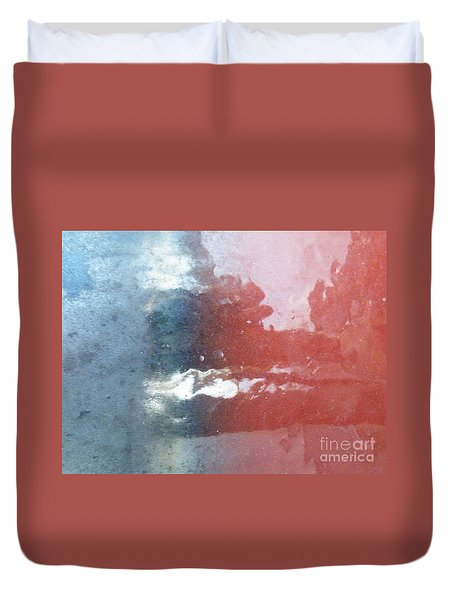 Duvet Cover featuring the photograph Not Making Violet by Brian Boyle