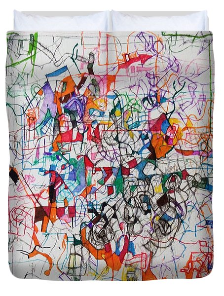 Nothing Left But Prayer Duvet Cover by David Baruch Wolk