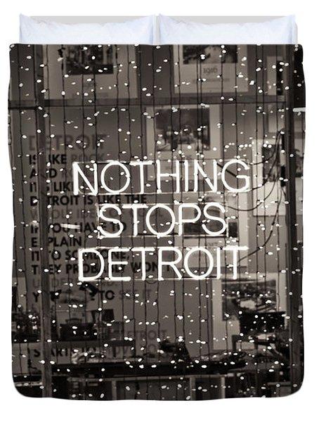 Nothing Stops Detroit  Duvet Cover