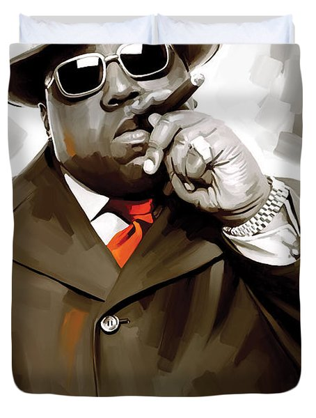 Notorious Big - Biggie Smalls Artwork 3 Duvet Cover by Sheraz A