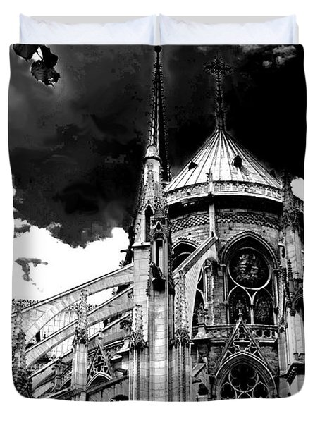 Notre Dam Revealed By Denise Dube Duvet Cover