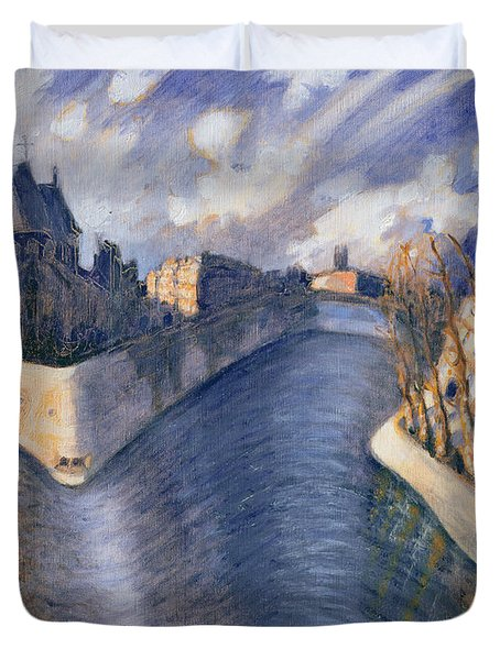 Notre Dame Cathedral Duvet Cover by Charlotte Johnson Wahl