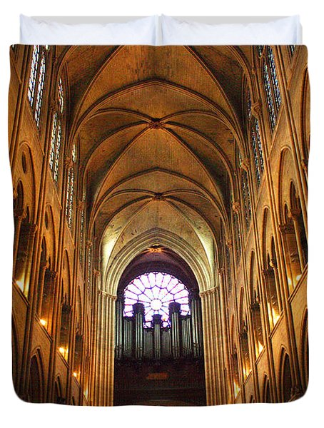 Notre Dame Ceiling Duvet Cover