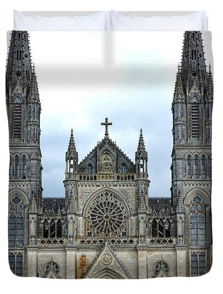 Notre Dame De Montligeon Basilica Duvet Cover