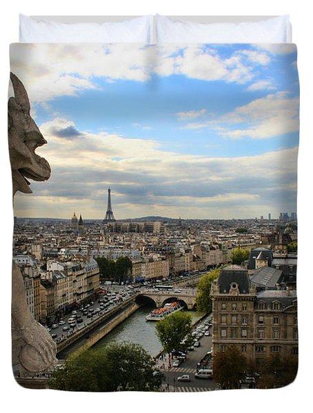 Notre Dame Gargoyle Duvet Cover