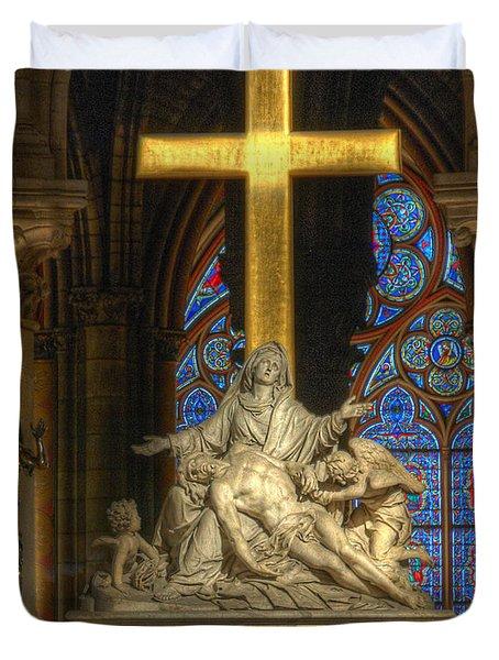 Notre Dame Pieta Duvet Cover